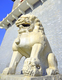 China Beijing ancient granite lion
