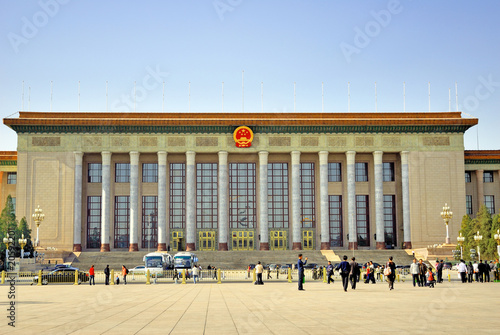 Fotobehang Beijing China Beijing the Great Hall of the People