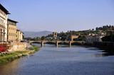 Arno river, Florence, Italy poster