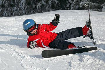 Jeune Skieur : Chute #2