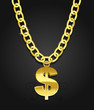 dollar sign hanging on the chain