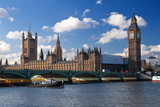 The Houses of Parliament and Westminster Bridge in London