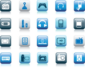 electronic icon buttons