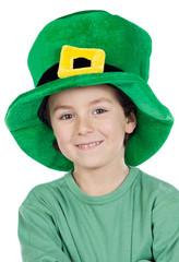 Child whit hat of Saint Patrick's