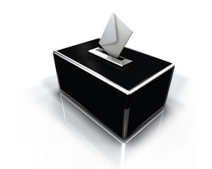 Urne de droite de vote 3d illustration
