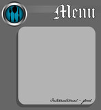 Menu for international food poster