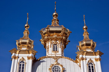 Golden domes against the blue sky