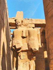 Stone Statues in Karnak Temple