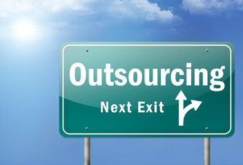 "Highway Sign ""Outsourcing"""
