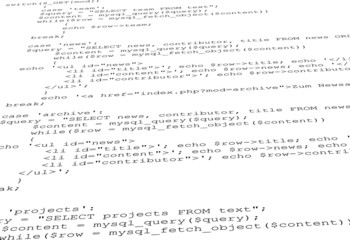 Quelltext PHP abfrage code