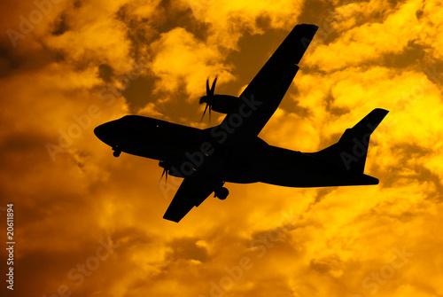 aeroplane in flight