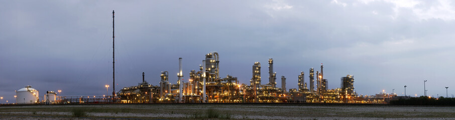 Petrochemical industry at dawn