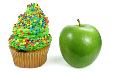 Apfel und Torte