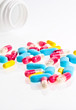 abstract medical pills and tablets background
