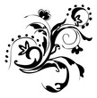 Hand drawn vector art - Floral design element