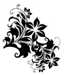 Beautiful abstract decorative floral ornament