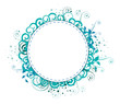 Vector illustration - Curled frame circle