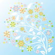 Colorful abstract floral background - Vector