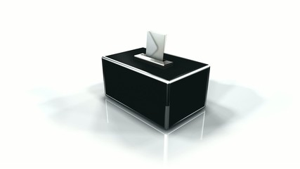 Election droit de vote bulletin urne 3d