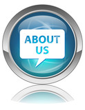 ABOUT US Web Button (Information Identity Company Communication) poster