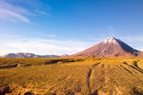 Licancabur Volcano at the Altiplano, Chile, South America