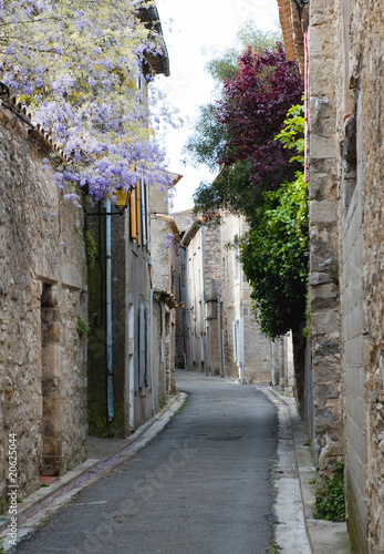 Street in Lagrasse Medieval Village France