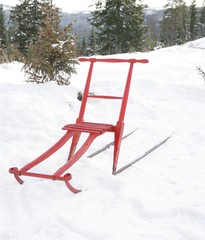 Traditional Scandianvian kicksled