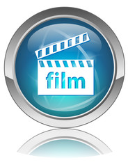 FILM web button (cinema review online culture arts reel vector)