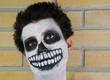 Portrait of a creepy skeleton guy (Carnival face painting)