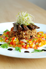 Beef and cous cous salad