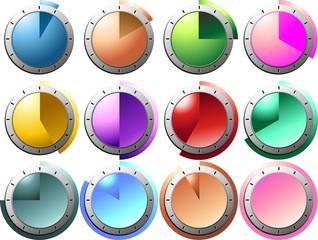 Orologi Minuti-Minute Clock-Horloge Minutes-Vector