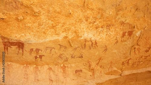 Plexiglas Algerije Peintures rupestres