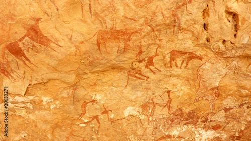 Poster Algerije Peintures rupestres