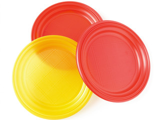 three disposable plates