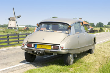 Dutch scene with a French Classic Car