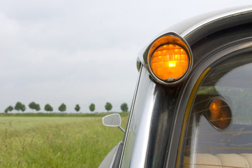 French Car in Dutch Landscape