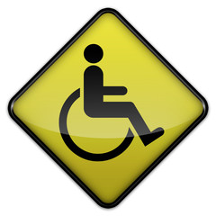 "Advisory Sign ""Handicapped / Wheelchair"""