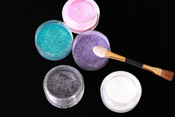 Colored glitter for makeup