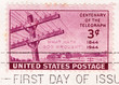 Stamp printed in USA - Centenary Of The Telegraph