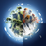four seasons on small planet