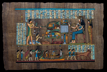 Egyptian papyrus depicting ritual