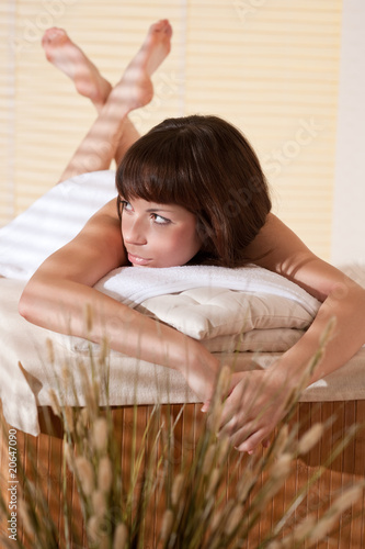 Spa - Young relaxed woman at wellness therapy