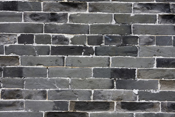 chinese green brick background.