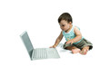 Baby at laptop computer