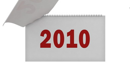 year 2010 is here - flipping pages in calendar