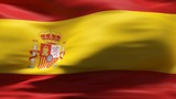 Creased spain cotton  flag with visible wrinkle and seams poster