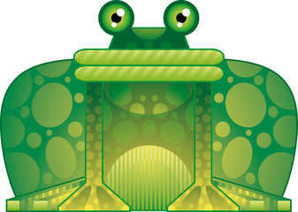 Stylish colorful frog, a childlike illustration