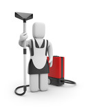 Maid with vacuum cleaner