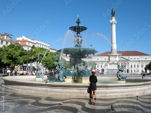 Rossio in Lissabon