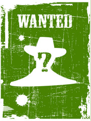 the vector wanted poster image